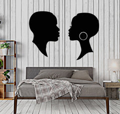 Vinyl Wall Decal African Black Mr. and Mrs. Man Woman Stickers (2317ig)