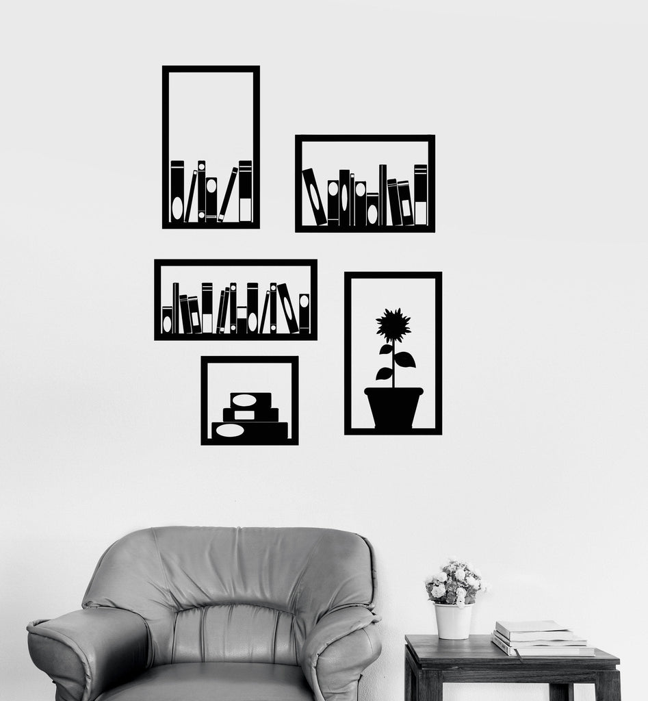 wall stickers for office. Vinyl Wall Decal Office Bookshelves Interior Decor Room Library Stickers Unique Gift (512ig) For