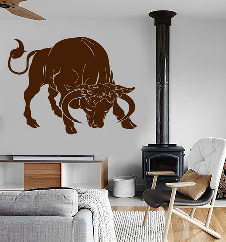Vinyl Decal Wall Sticker Bull Rodeo Animal Fighting Corrida Spain Modern Home Decor (i008)