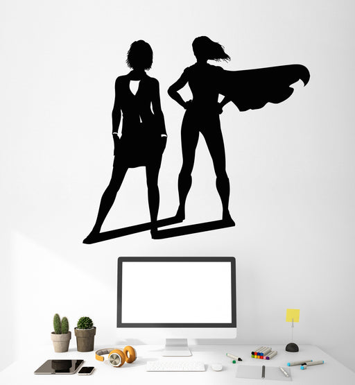 2096ig Vinyl Wall Decal Woman Hand Stilettos Shoe Lady Girl Manicure Stickers