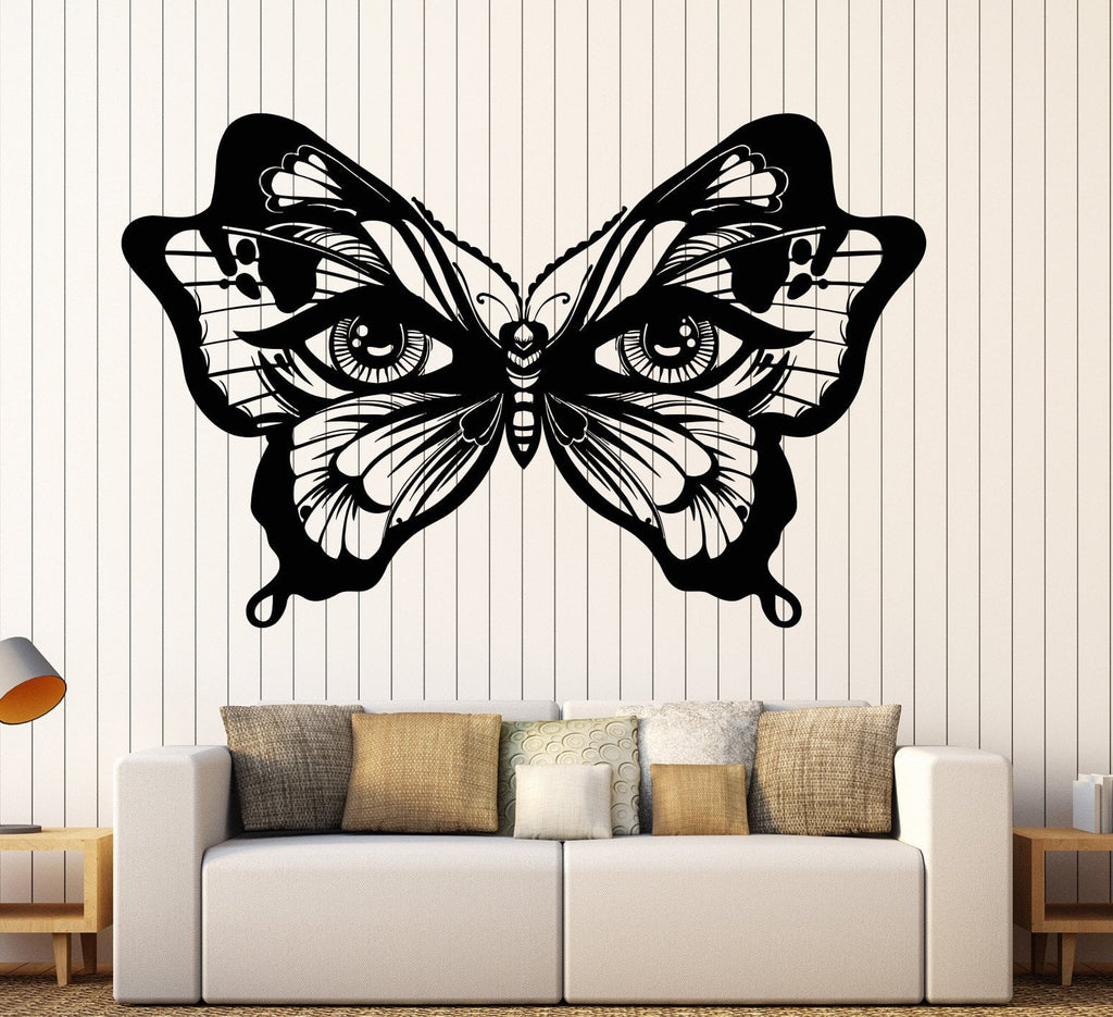Vinyl Wall Decal Butterfly Insect Womens Eyes Art Decor Stickers - Vinyl wall decals butterflies