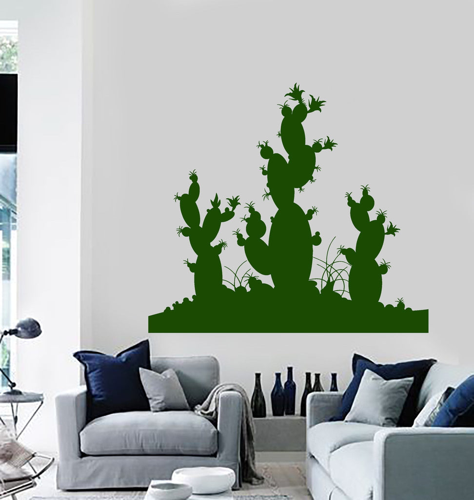 Vinyl Wall Decal Cactus Desert Plant Room Decoration Stickers Murals  (ig4713) Part 71