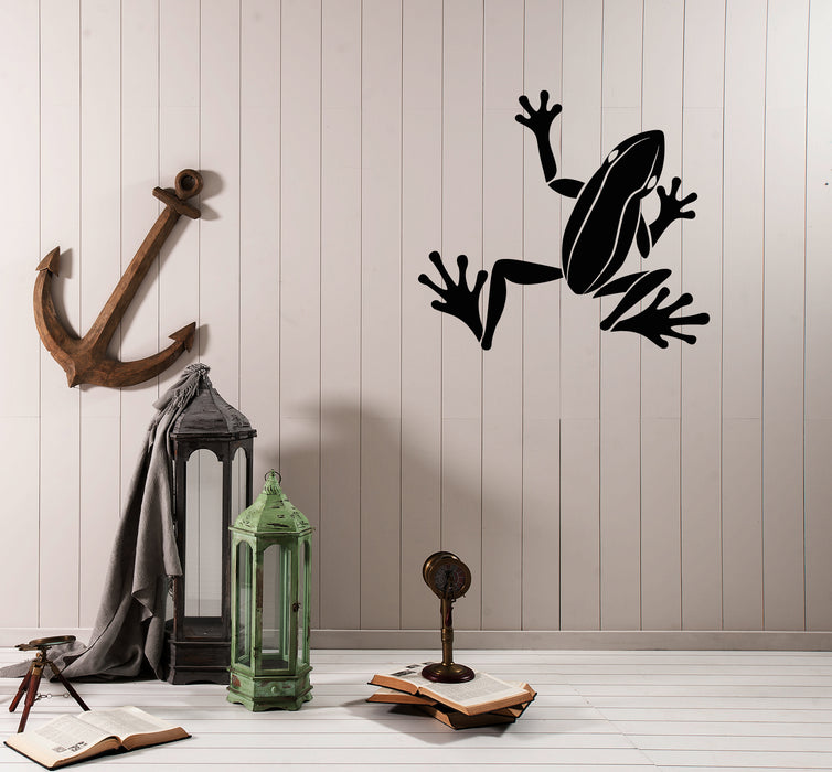 Vinyl Wall Decal Cartoon Frog Animal Children's Room Decor Stickers (4181ig)