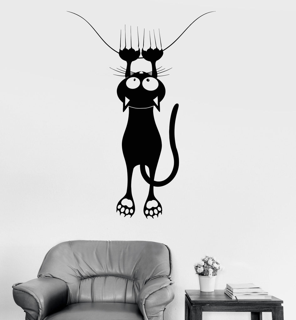 Vinyl Decal Wall Funny Cat Pet Shop Veterinary Clinic Decor Stickers Unique Gift (1137ig)