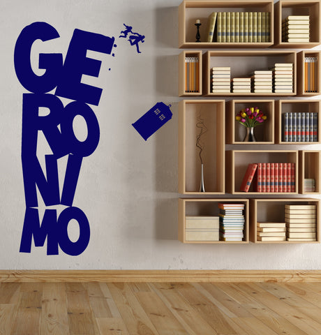 Vinyl Wall Decal Cinema Doctor Who Series Tardis Geronimo Stickers Unique  Gift (1570ig)