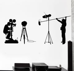 Vinyl Wall Cinema Cinematography Camera Filming Director Decal Stickers Unique Gift (768ig)