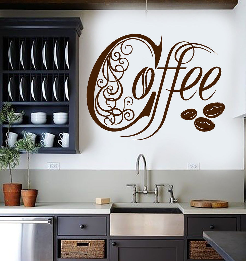 Vinyl Wall Decal Kitchen Coffee Shop House Cafe Decor ...