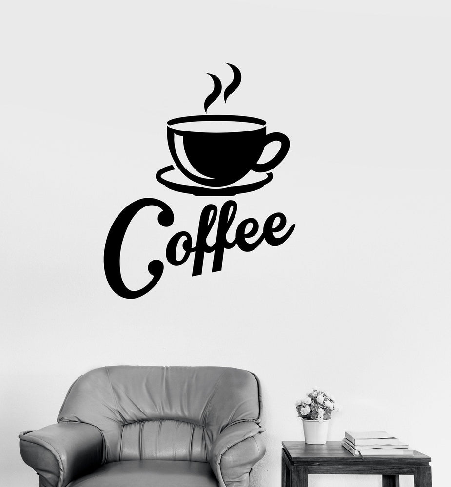 Vinyl Decal Kitchen Coffee Shop Cup House Decor Wall ...