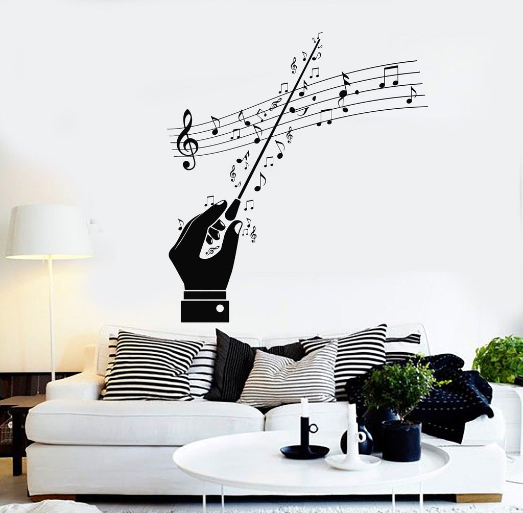 Vinyl wall decal conductor maestro musical notes orchestra vinyl wall decal conductor maestro musical notes orchestra stickers unique gift ig4543 amipublicfo Gallery