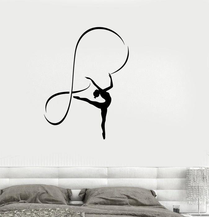 Vinyl Decal Gymnastics Sports Girl Room Dancing Woman Wall Stickers Unique Gift (ig2665)
