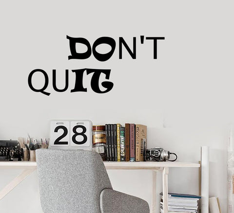 Vinyl Wall Decal Stickers Motivation Quote Words Inspiring Don't Quit Do It Letters 2080ig (22.5 in x 10 in)