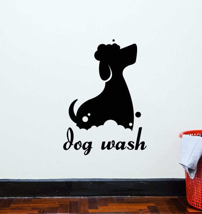 Vinyl Wall Decal Dog Wash Pet Grooming Salon Logo Stickers (3981ig)