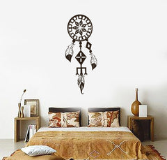 Vinyl Decal Dreamcatcher Rustic Ethnic Style Decoration Wall Sticker Decor for Bedroom Unique Gift (ig3124)