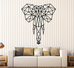Vinyl Wall Decal Abstract Geometric African Animal Elephant Head Stickers Unique Gift (2064ig)