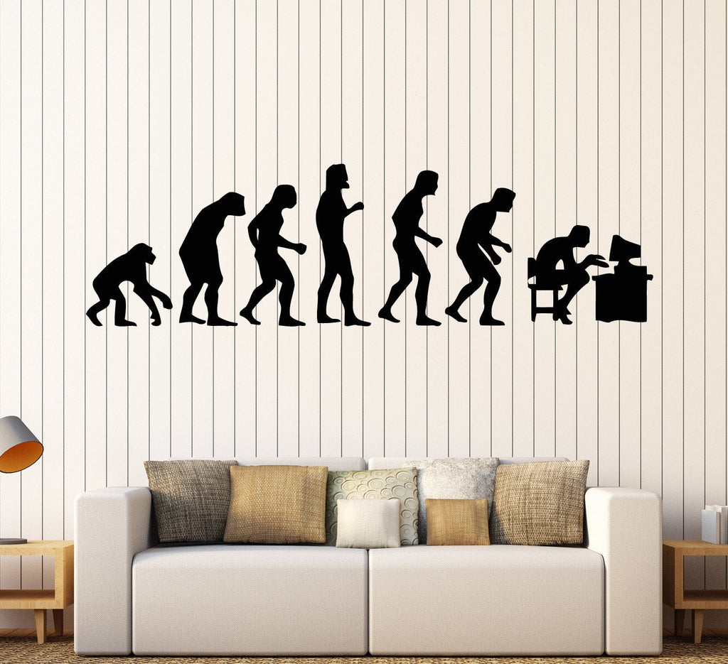 Vinyl Wall Decal Geek Evolution Computer Video Game Stickers Mural Unique Gift (ig1598)