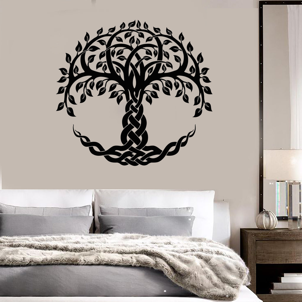 Vinyl Wall Decal Celtic Sacred Tree Of Life Ethnic Style Symbol Stickers  Unique Gift (1478ig
