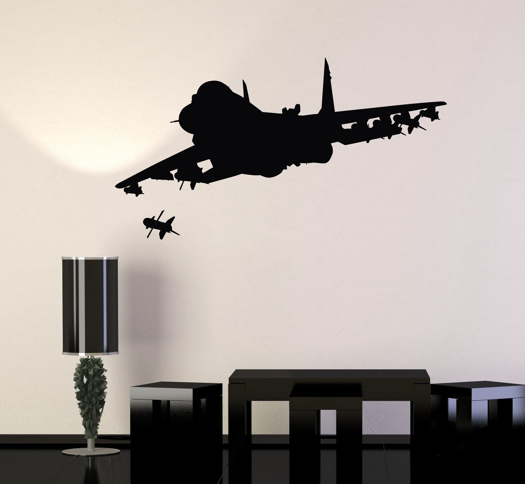 Vinyl Wall Decal Fighter Aircraft Military Aviation Art War Stickers Mural  Unique Gift (ig4954)
