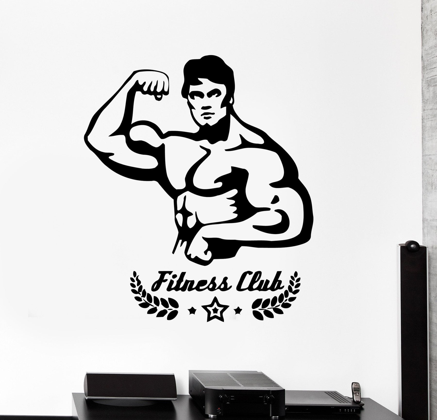 Wall Stickers Vinyl Decal Fitness Club Gym Muscled Bodybuilder Unique Gift (ig330)
