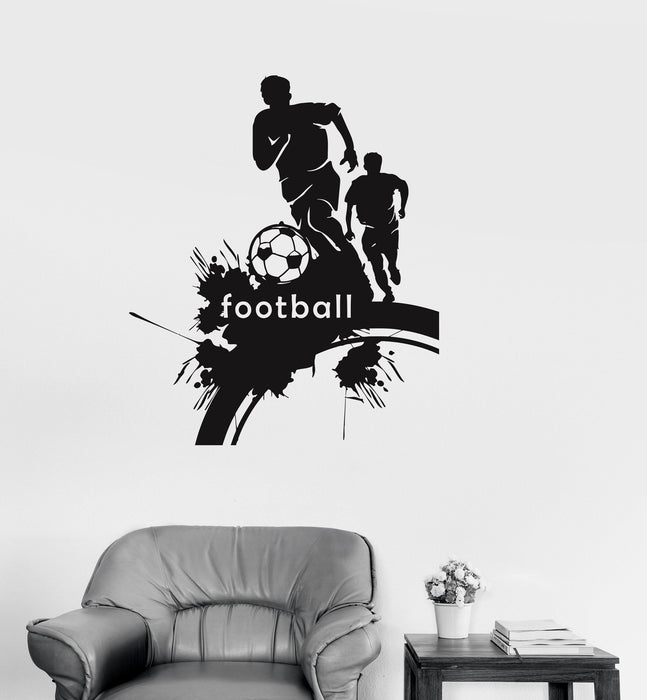 Vinyl Wall Decal Soccer Football Sports Fans Boys Room Decor Stickers  Unique Gift (027ig)