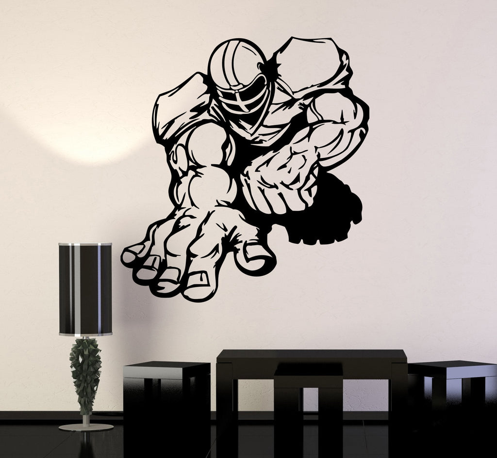 Vinyl Wall Decal American Football Player Sports Cool Design Stickers Unique Gift (ig275)