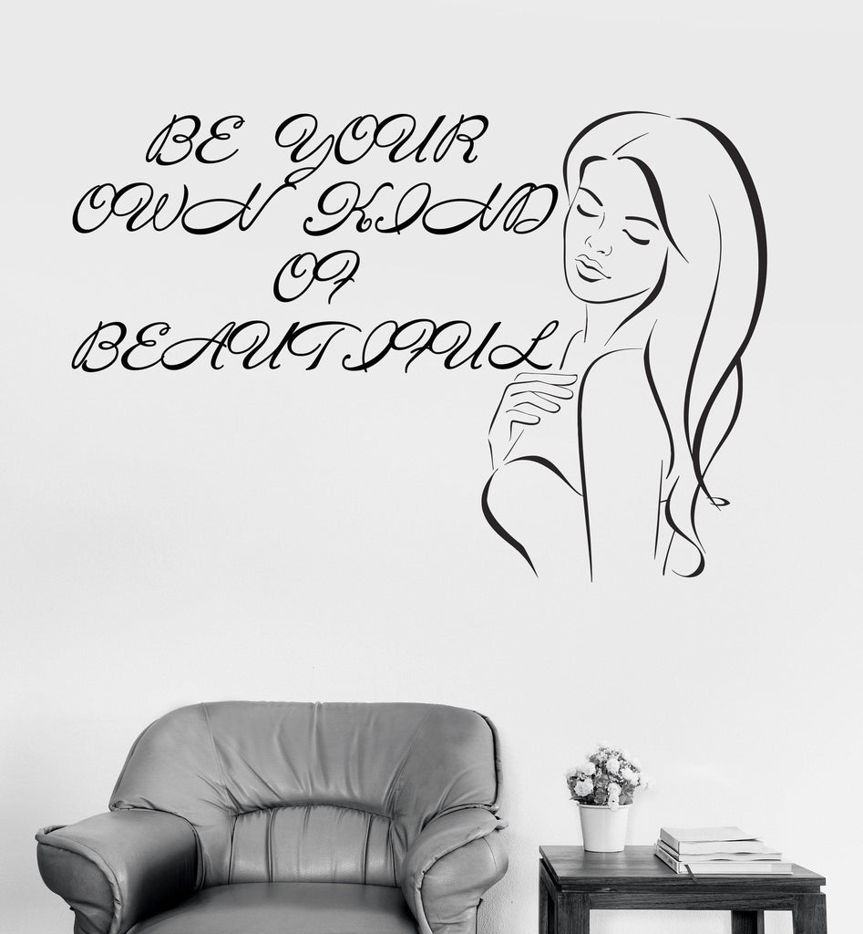 Vinyl Wall Decal Beauty Salon Woman Fashion Style Girl Room Stickers Unique Gift (ig4042)