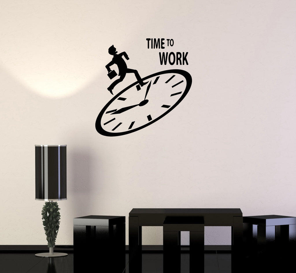 vinyl wall decal time to work motivation office employee stickers vinyl wall decal time to work motivation office employee stickers mural ig3388