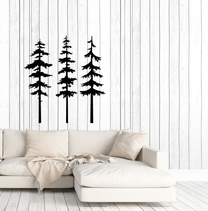 Vinyl Wall Decal Nature Forest Trees Landscape Spruce Stickers (3727ig)