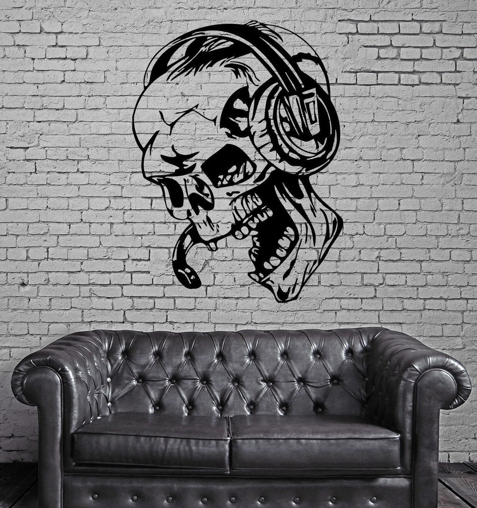 Wall Stickers Vinyl Decal Gamer Play Skull Music