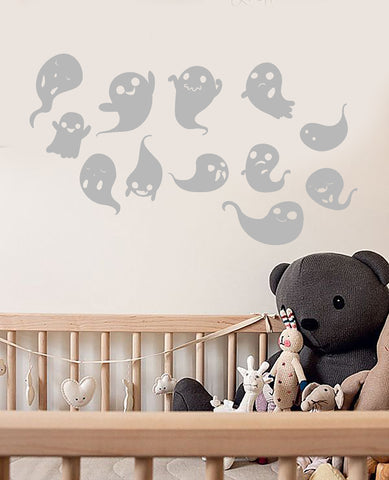 Vinyl Wall Decal Cartoon Ghost Spook Halloween Decor Stickers (3193ig)