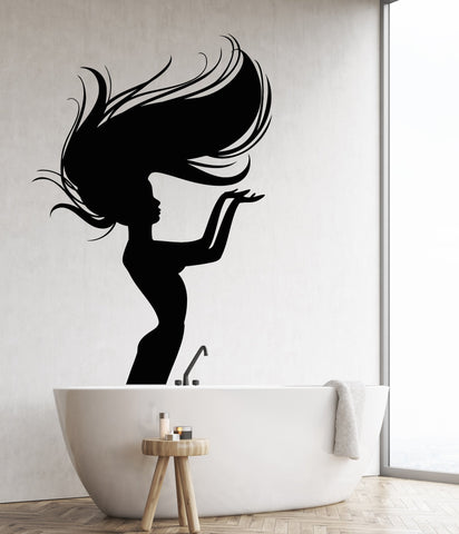 Vinyl Wall Decal Naked Girl Mermaid Nymph Art Decor For Bathroom Stickers  Unique Gift (1258ig