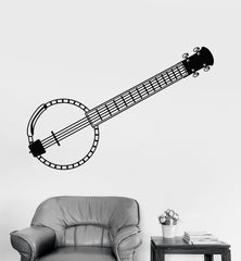 Vinyl Wall Decal Banjo Guitar Music Musician Music Shop Stickers Unique Gift (868ig)