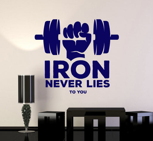 Vinyl Wall Decal Home Gym Fitness Girl Motivation Quote Stickers 3014ig