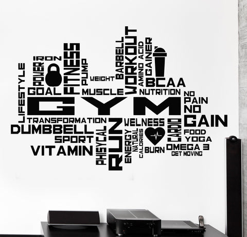 Vinyl Wall Decal Gym Motivation Sport Beautiful Body Health Stickers (846ig)