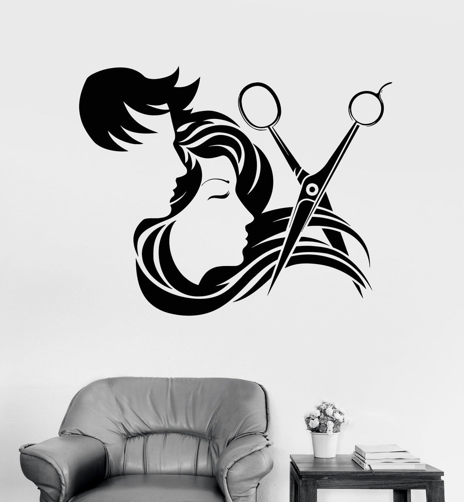 Vinyl Wall Decal Hair Salon Stylist Hairdresser Barber Shop Stickers Unique Gift (ig4133)
