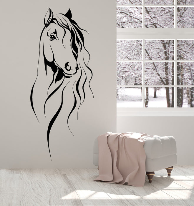 Vinyl Wall Decal Horse Head Pet Animal Art Decor Stickers Unique Gift (1393ig)