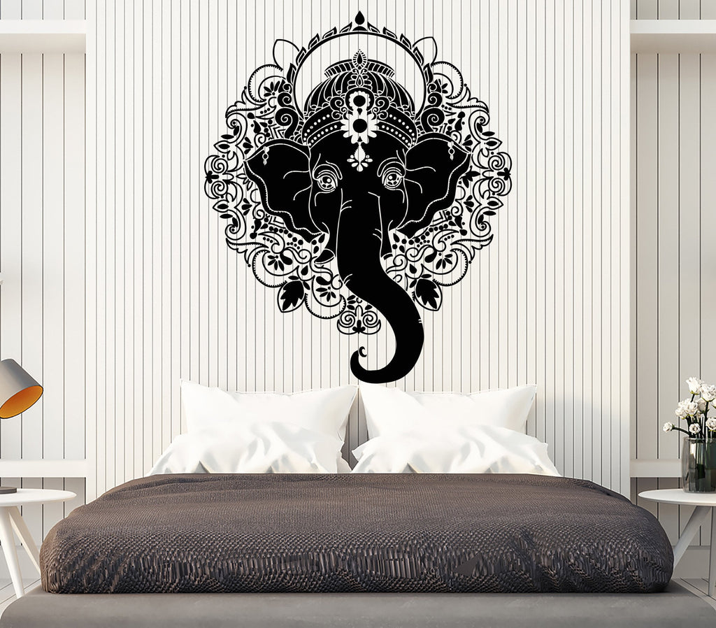 Vinyl Wall Decal India Ganesha Elephant God Hindu Hinduism - Custom vinyl decals india