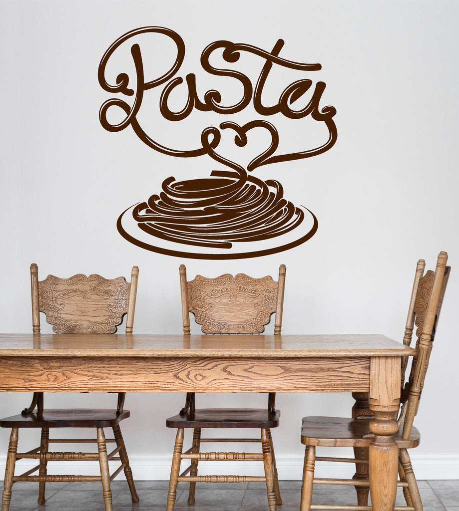 Vinyl Wall Decal Pasta Italian Restaurant Kitchen Dining Room Stickers  Unique Gift (ig4755)