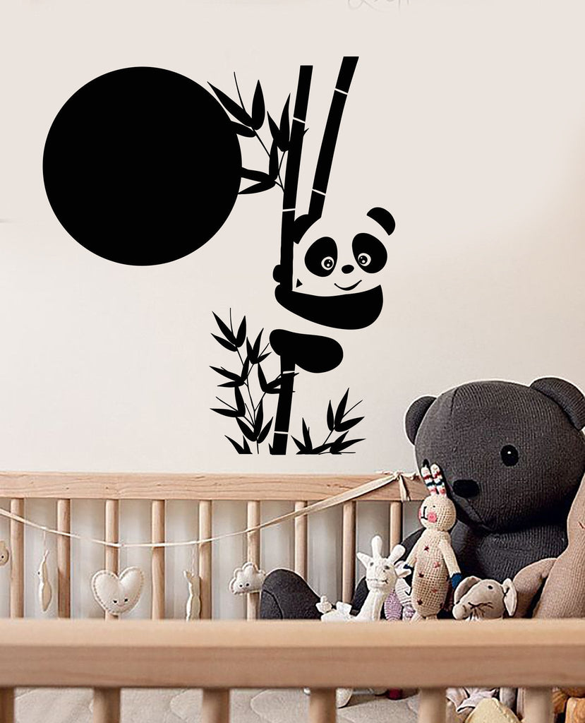 Vinyl Wall Decal Panda Bamboo Cute Animal Asian Stickers Unique - Vinyl wall decals asian