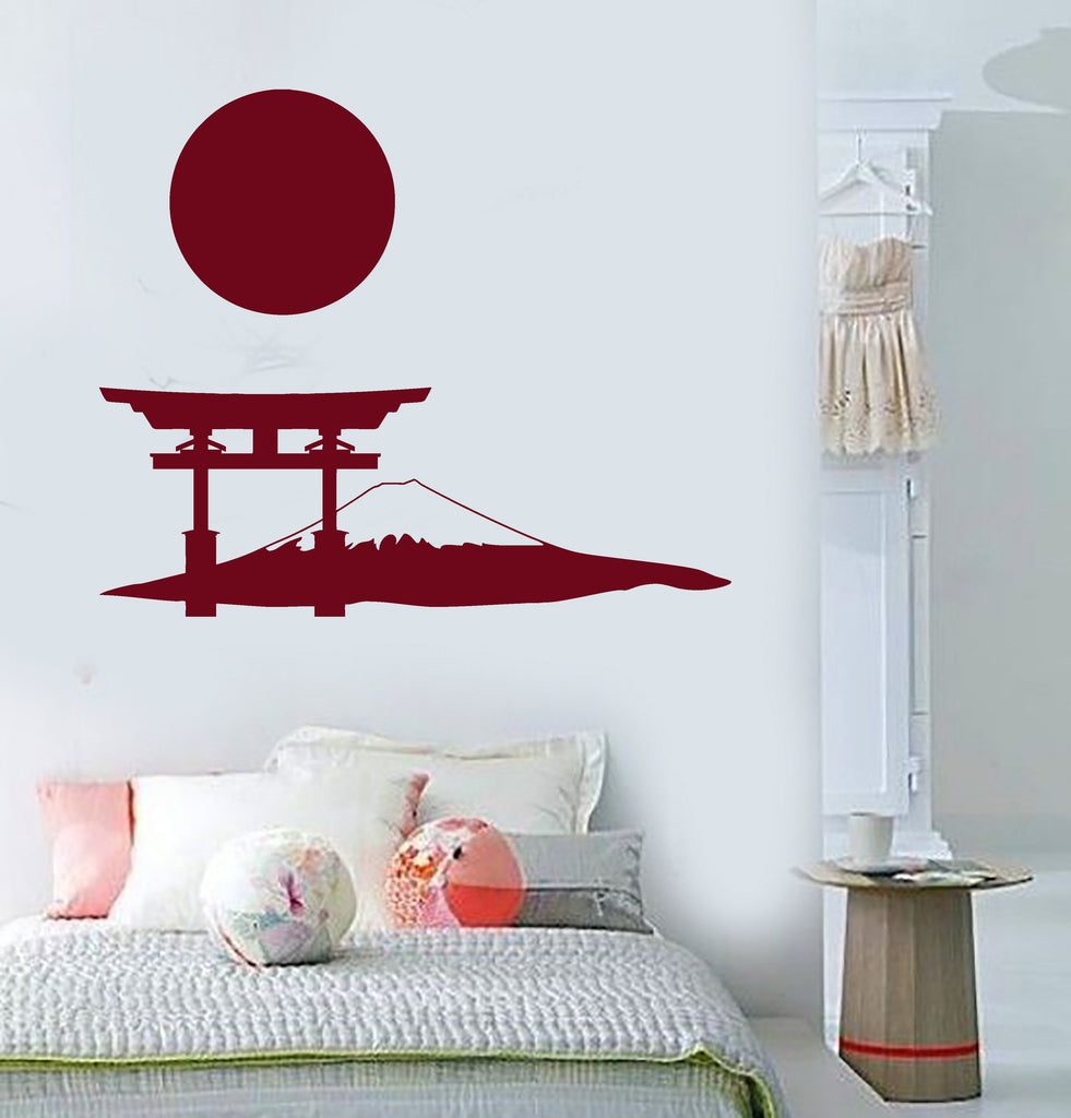 Vinyl wall decal japanese gate mountain sun art japan stickers vinyl wall decal japanese gate mountain sun art japan stickers murals unique gift ig4872 amipublicfo Choice Image