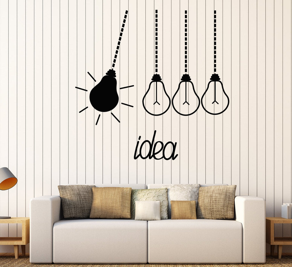 vinyl wall decal light bulbs idea funny office decor stickers unique gift 1592ig office wall decal a55 decal