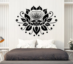 Vinyl Decal Wall Flower Bud Lotus Garden Nature Yoga Stickers Unique Gift (1547ig)