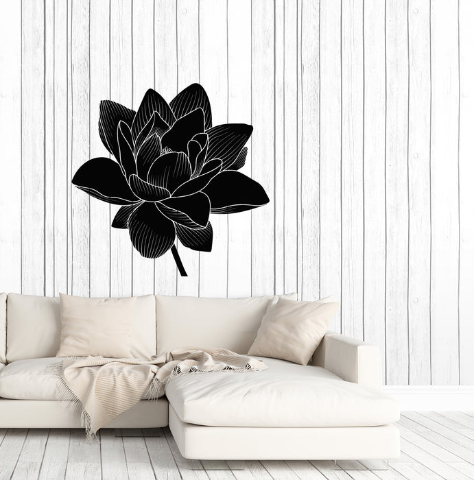 Vinyl Wall Decal Lotus Flower Bud Nature Hinduism Yoga Stickers (4152ig)