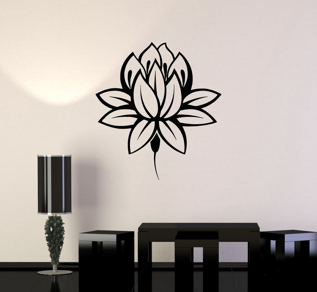 Vinyl wall decal lotus flower buddhism buddha meditation wall vinyl wall decal lotus flower buddhism buddha meditation wall stickers unique gift ig3345 mightylinksfo