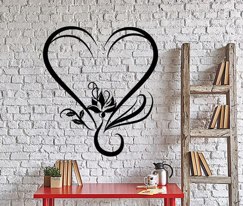 Vinyl Decal Lotus Yoga Love Romantic Room Decor Wall Stickers Decor (001ig)
