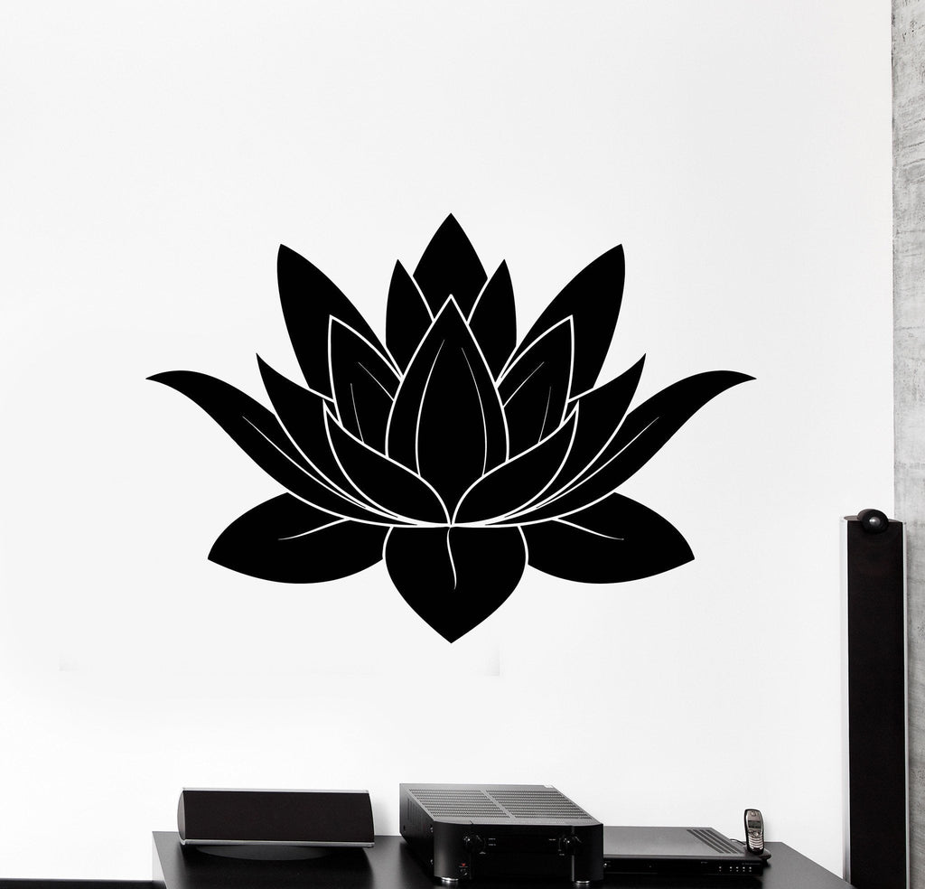 Wall stickers vinyl decal lotus flower buddhism symbol of purity wall stickers vinyl decal lotus flower buddhism symbol of purity talisman unique gift ig2310 mightylinksfo
