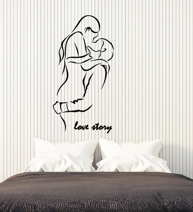 Swell Vinyl Wall Decal Boy And Girl Romantic Word Love Story Stickers 3404Ig Download Free Architecture Designs Rallybritishbridgeorg