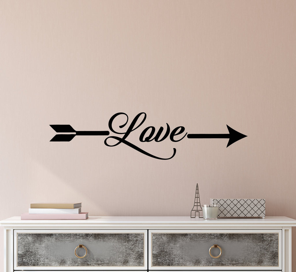 Vinyl Wall Decal Stickers Romance Quote Words Love Arrow Inspiring Let –  Wallstickers4you