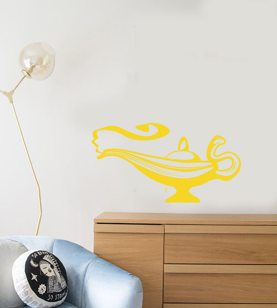 Vinyl Wall Decal Magic Lamp Jinn Fairy Tale Children's Room Stickers (3934ig)