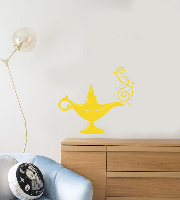 Vinyl Wall Decal Gin Magic Lamp Fairy Tale Cartoon For Kids Stickers (3780ig)