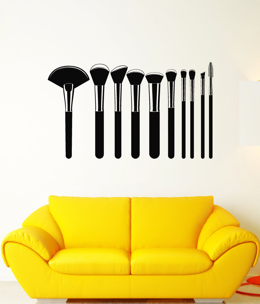 Vinyl Wall Decal Professional Makeup Artist Brushes Fashion Beauty ...